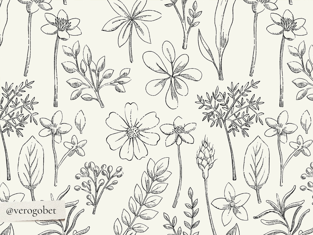 Digital vintage floral papers in 2020