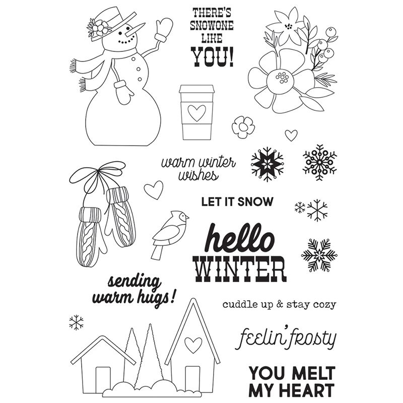 Simple Stories Winter Farmhouse Stamps In 2020 Simple Stories Clear Stamps Photopolymer Stamps