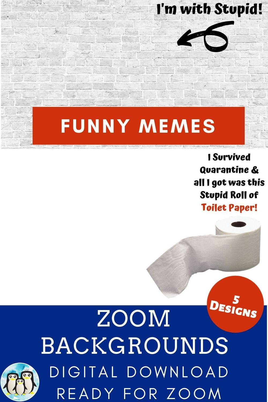 Zoom Virtual Background Bundle Of 5 Funny Memes Zoom Background Virtual Background Video Conference Backgrounds Funny Memes Cute Gifts For Friends Memes