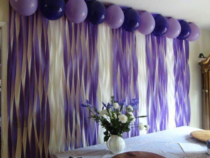 Decoraci n con cortinas de papel crep papel decoraci n - Decoracion con cortinas ...