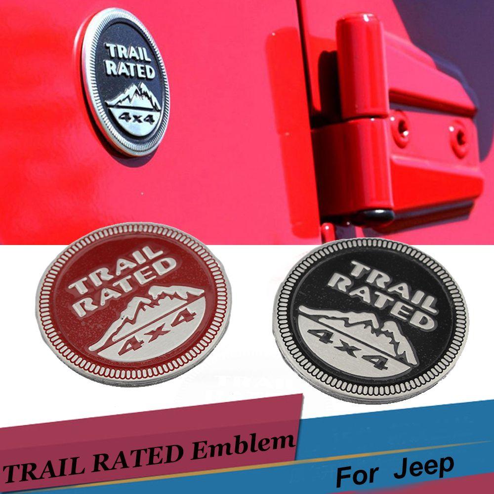 Jeep Trail Rated 4x4 Badge Metal Emblem Liberty Grand Cherokee Wrangler