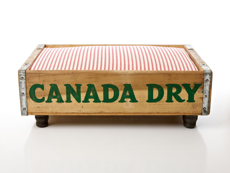 Canada Dry Luxury Vintage Cat Dog Pet Bed, Upcycled Soda