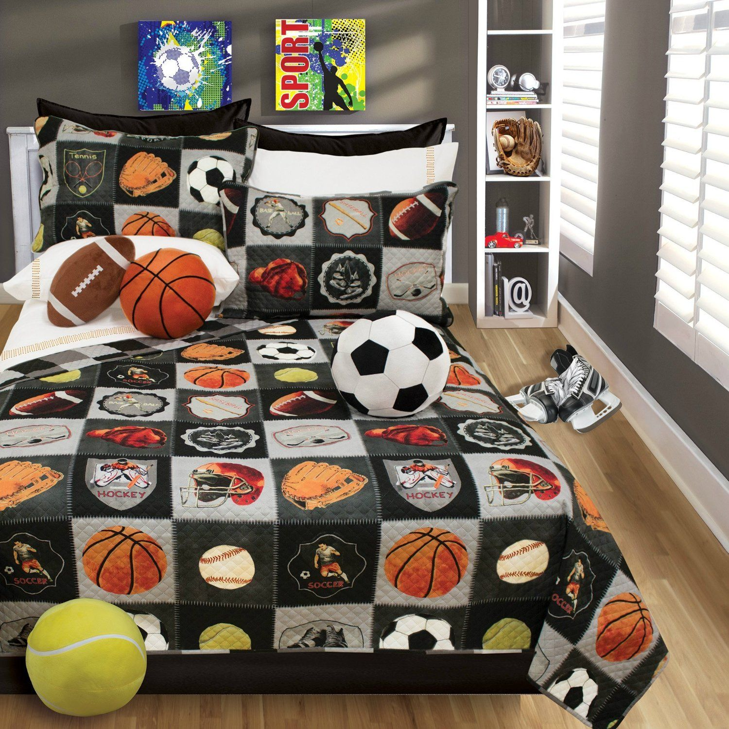 Amazon Boys Bedding Reversible Quilt And Pillow Sham Set Choice Of TWIN