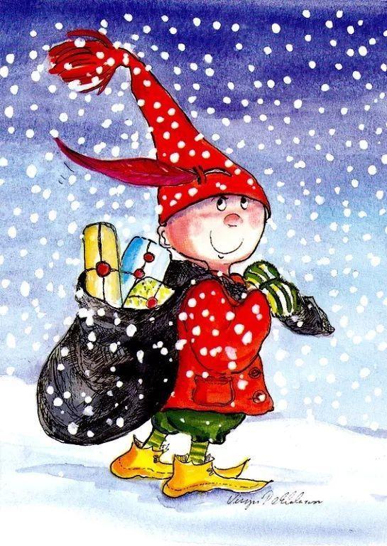 Pin by Marja Jämsen on Illustrazioni in 2020 Christmas