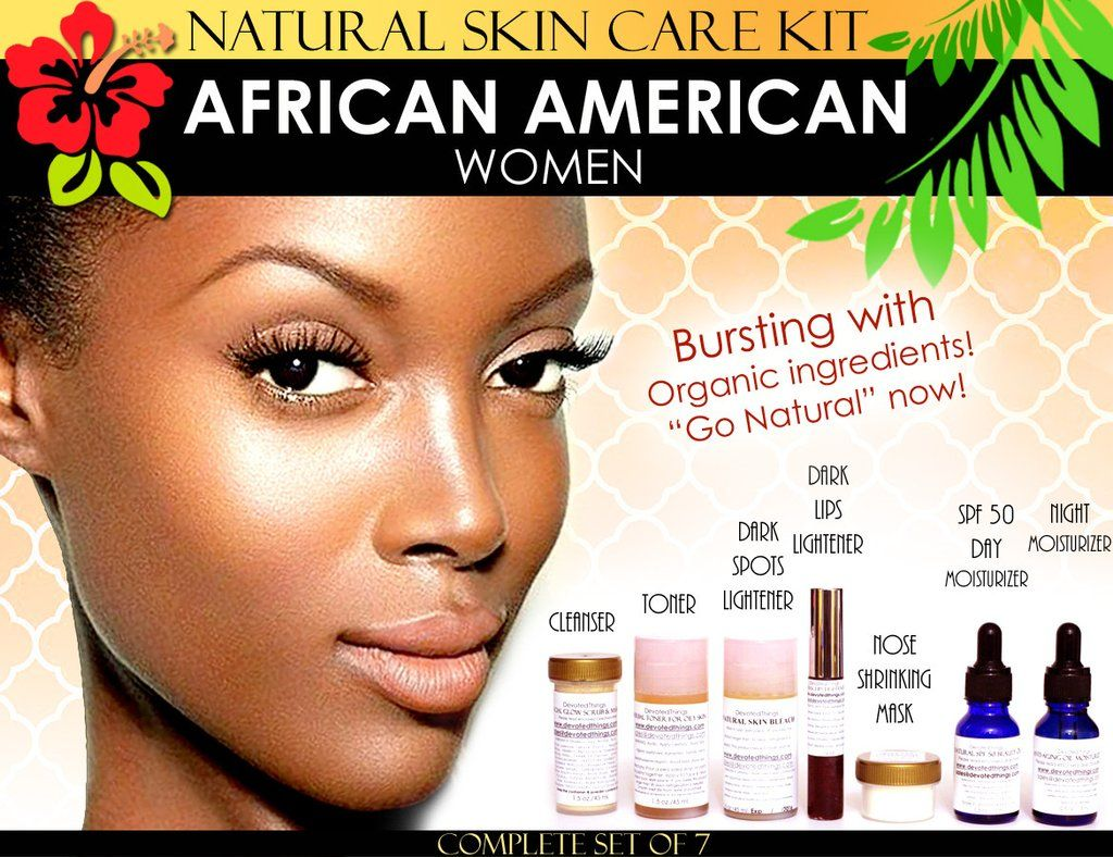 Natural Skin Care Kit For African American Black Women Skin Lightening And Toning Set Of 7 Skin Care Kit Skin Lightening Cream Lighten Skin