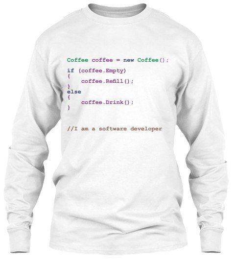 Buy NOW!  How to order? Click link on my bio @clothingcomedy  #coffeetime #coffeegeek #coffee #coffeelover #coffeecup #coffeeaddict #geek #computer #computerdevelopment #softwaredeveloper #softwareengineering #informationtechnology #javascript #student #college #work #workout