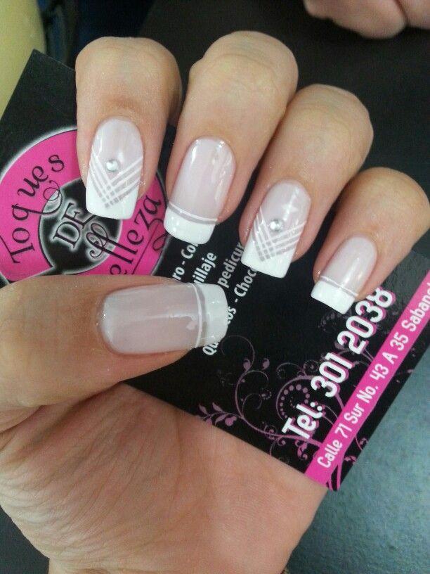 Francés nails | Arte uñas | Pinterest | Decoración de uñas ...