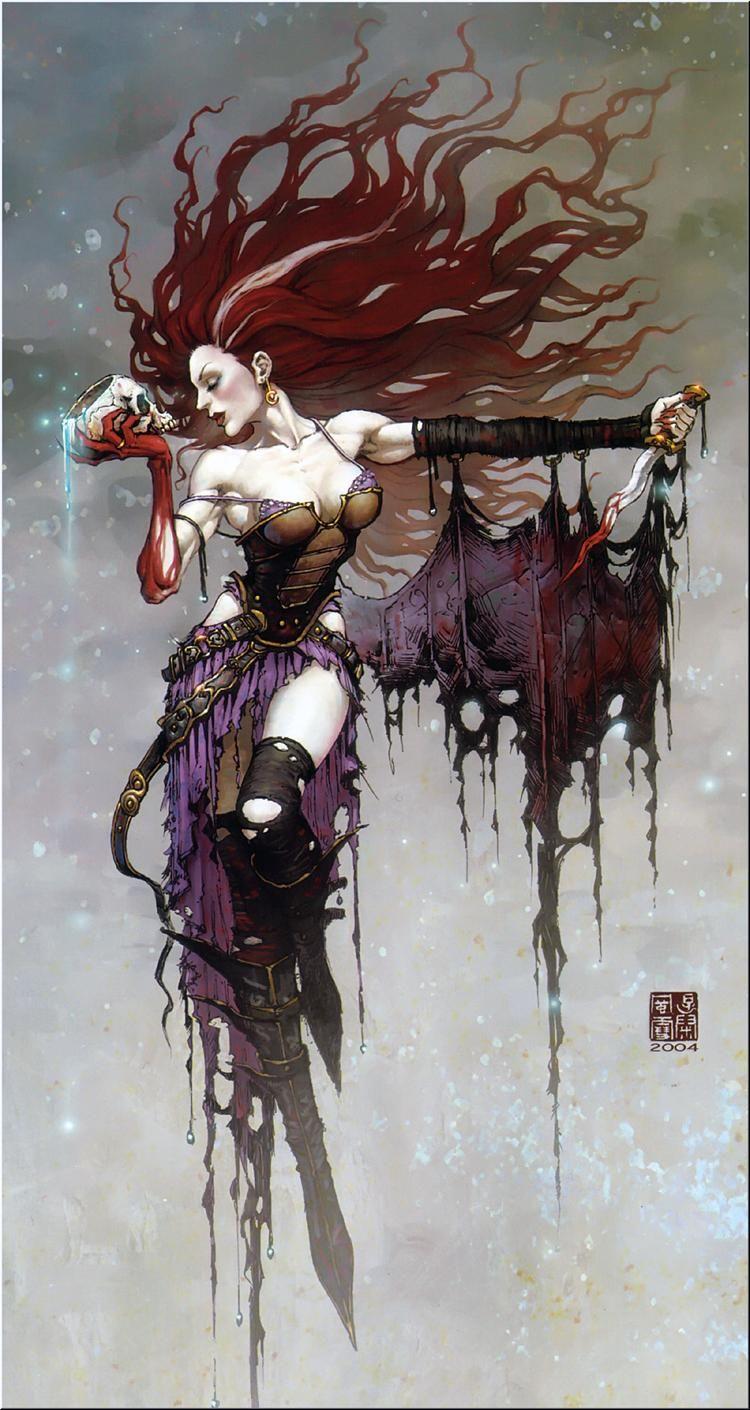 Wei Wang  Witch. | Fantasy art #Girl #Comic @deFharo