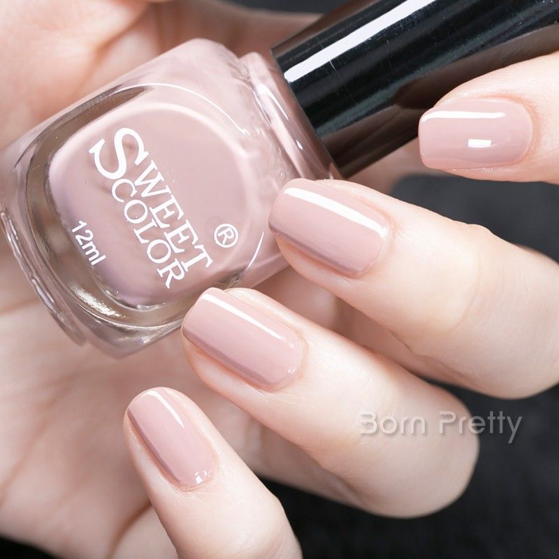 $5.49 1 Bottle 12ml Sweet Color Nail Polish Nude Pink Eco-friendly ...