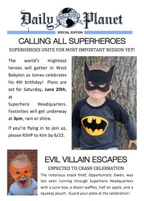 free customizable #download #superhero invitation | James\' superhero ...