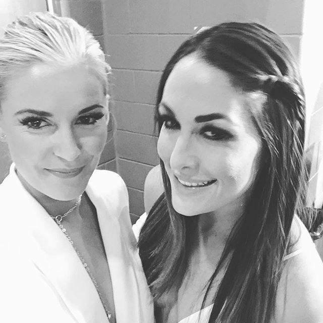 Renee Young & Brie Bella