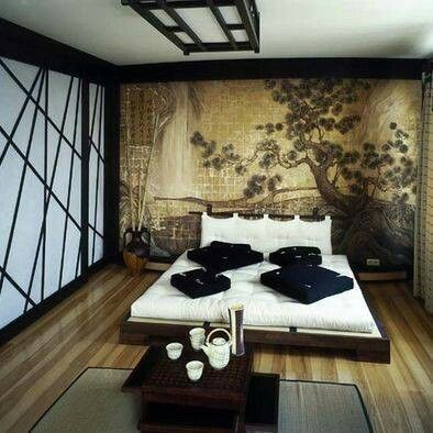 Asian Themed Bedroom1 With Images Japanese Style Bedroom