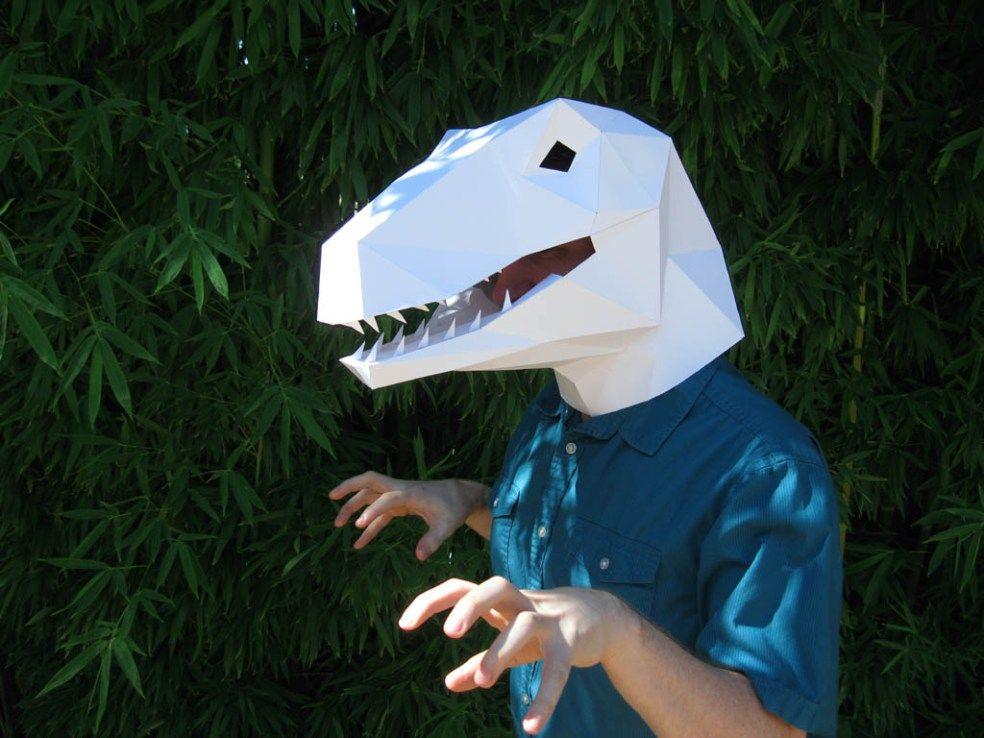 Velociraptor Mask Dinossauros Caretas Carnaval