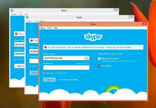 Skype web login