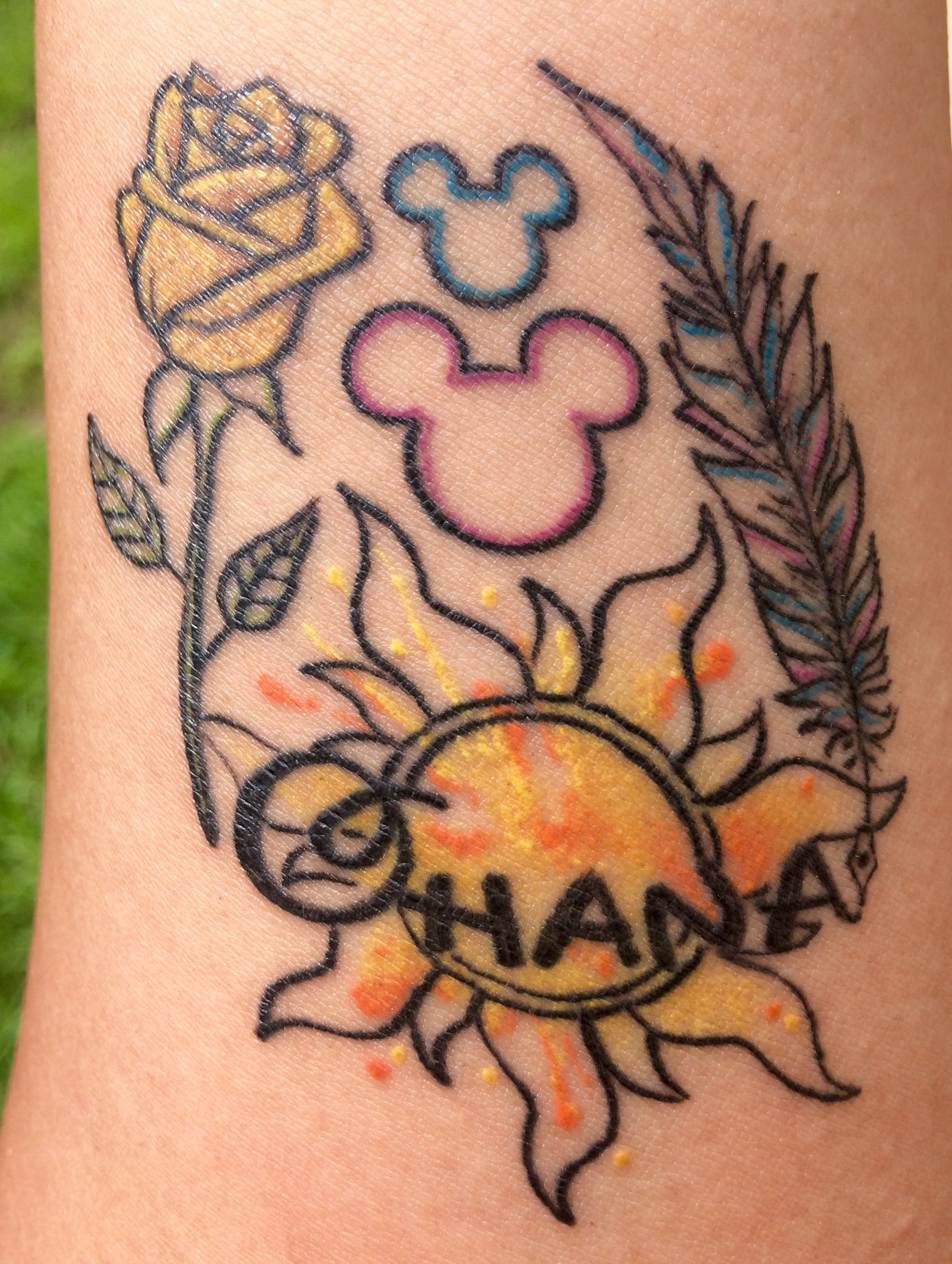 Yellow Rose Rapunzel Tangled Sun Ohana Disney Mickeys O Feather Quill Pen Watercolor Family Tattoo Tangled Tattoo Disney Tattoos Family Tattoos