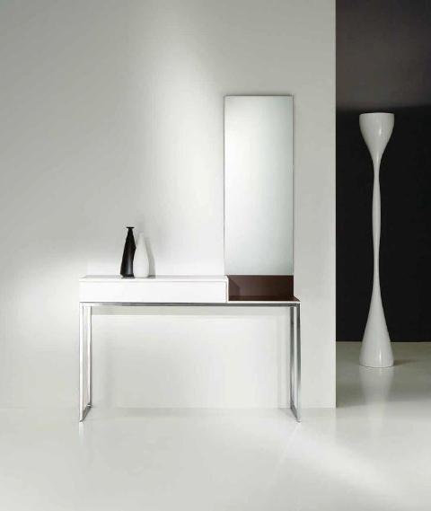 Recibidor en blanco y metacrilato recibidores - Recibidor moderno blanco ...