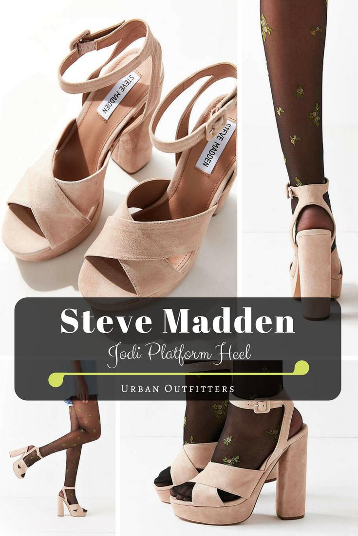 Steve Madden Jodi Platform Heel | Urban Outfitters | Afflink | shoes |  neutral pink |