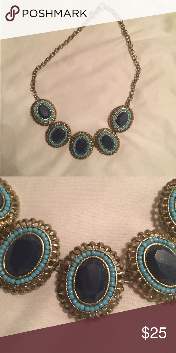 J. Crew Necklace Blue and gold necklace J. Crew Jewelry Necklaces