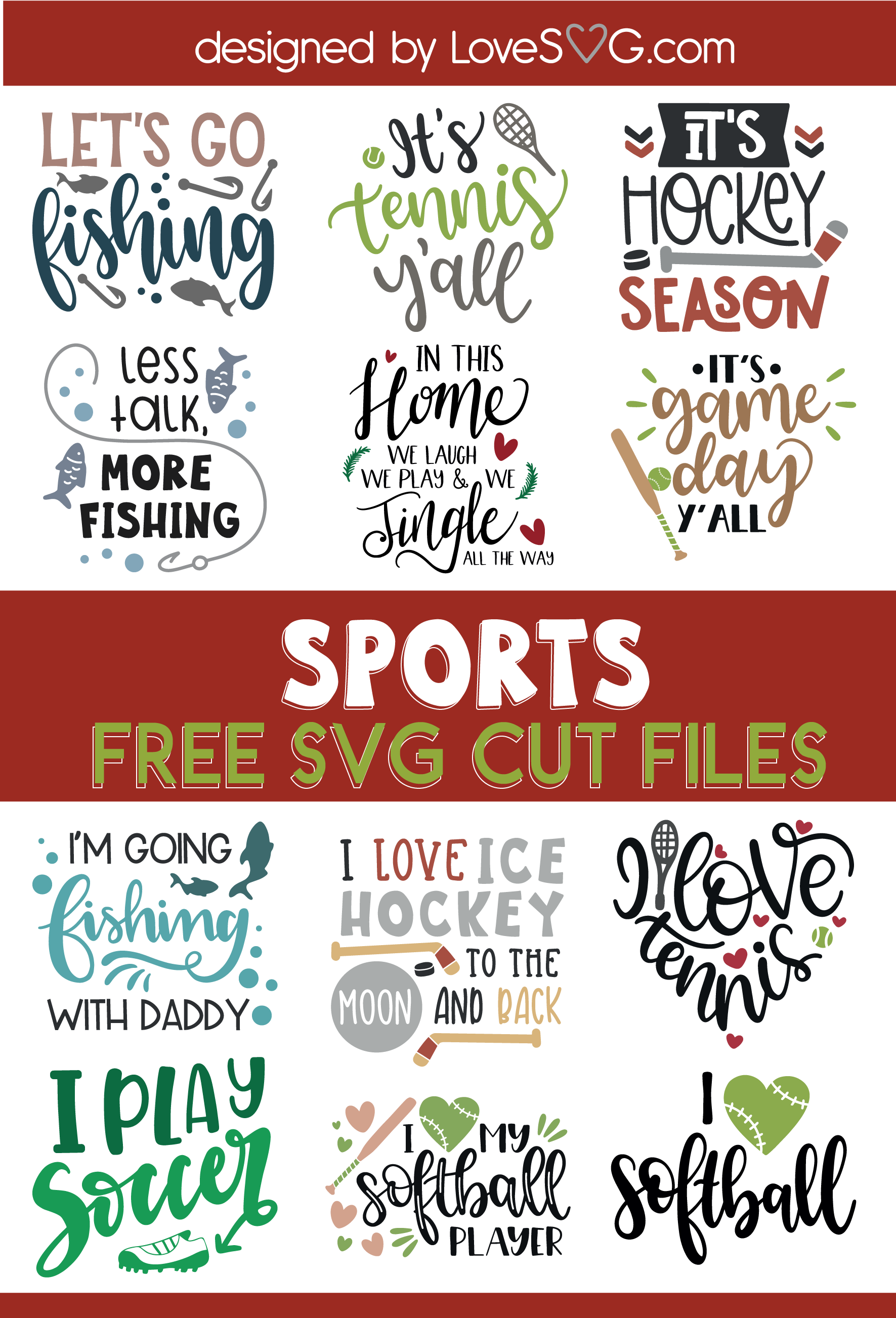Pin on Free Sports SVG Cut Files