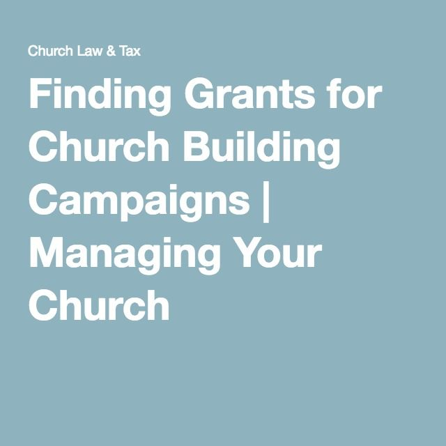 Finding Grants For Church Building Campaigns