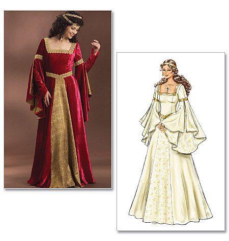 Butterick B4571 Womens Medieval Dress Renaissance Fair Costume Sewing Pattern Sizes 6-12