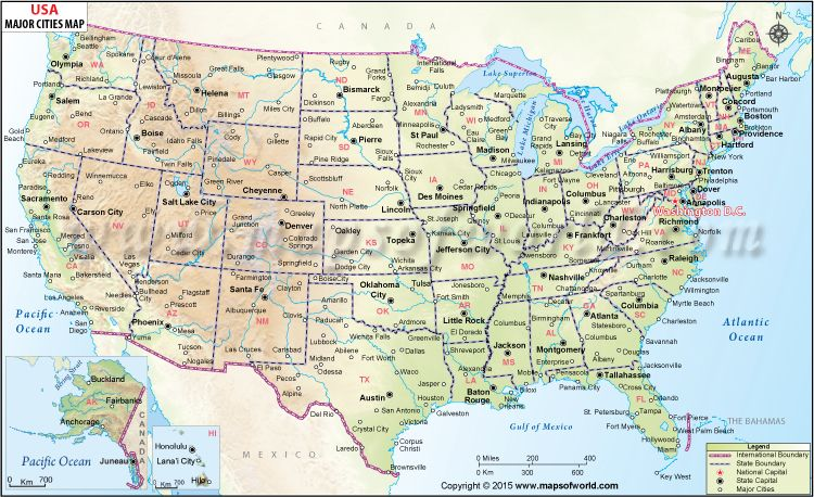 Buy Map Of Usa USA Map with Major cities (With images) | Us map with cities, Usa