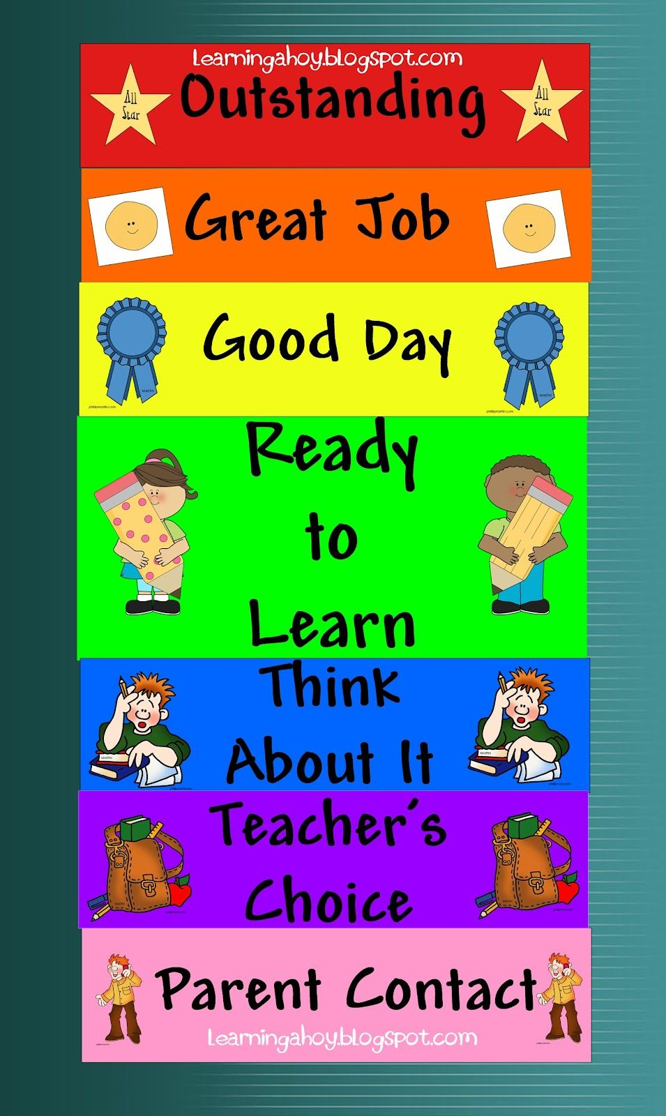 Behavior Chart Freebie Teaching Prek - Social Emotional