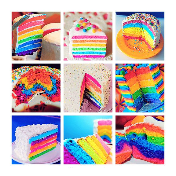 DIY Bake A Rainbow Cake! Kuchen, Backen, Kulinarisch