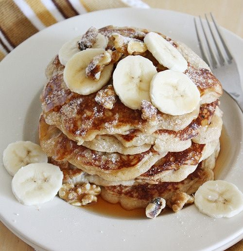 Make them banana pancakes pretend like its the weekend now we two magical foods banana bread and pancakes mashed into one delicious breakfast or brinner forumfinder Gallery