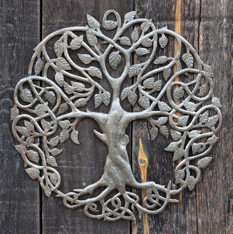 Amazon New Design Celtic Inspired Tree of Life Metal Wall Art