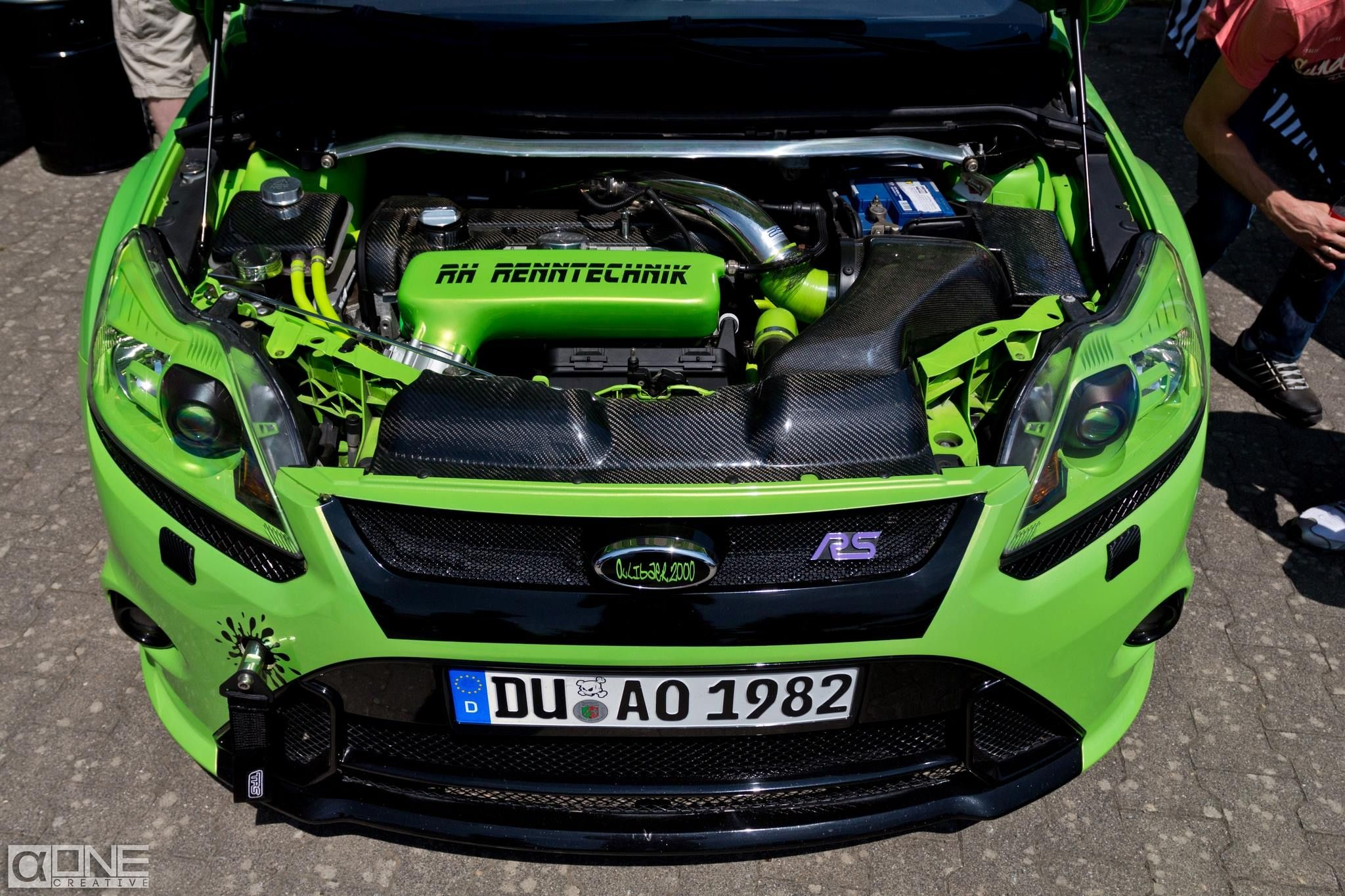 Ultimate Green Ford Focus Rs Mk2 Tuning Ford Focus Ford Focus