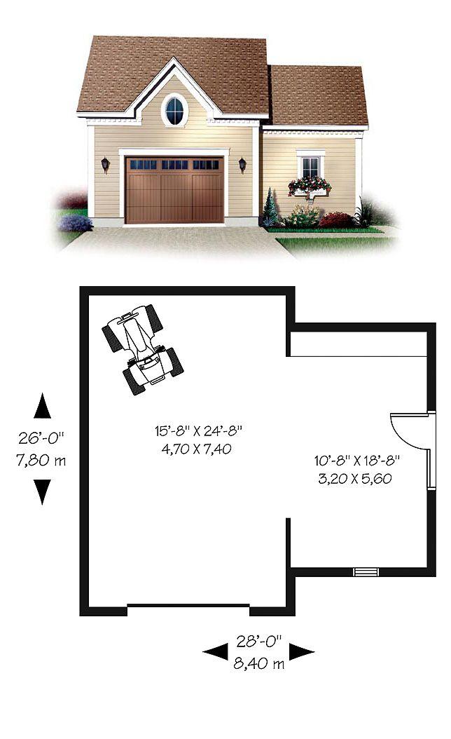 1 Car Garage Plan Number 65333 Garage Plan Car Garage Building A Garage