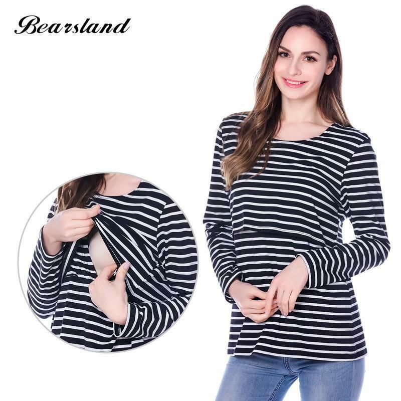12+ Maternity Nursing top Long Sleeve Cotton Breastfeeding Clothes Maternity Clothes for Pregnant Women casual feeding