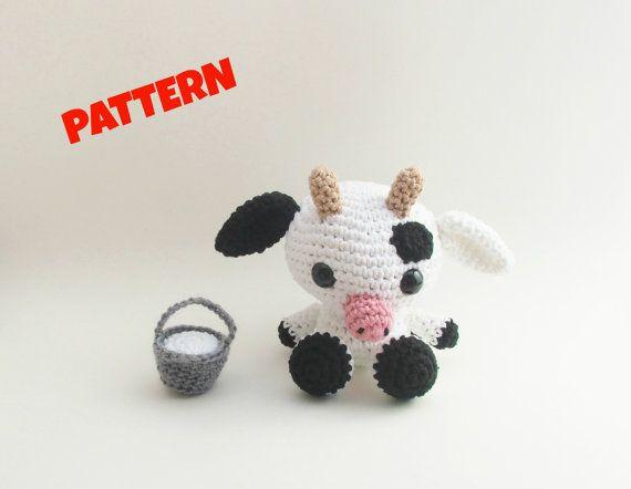 Amigurumi Cow Pattern Crochet Doll Pattern Amigurumi Doll Pattern