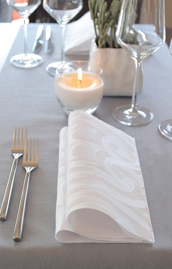 Duni napkin elegance crystal white   Table settings for New Year´s ...