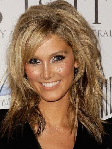 Medium Hairstyles For Women Over 40 With Thick Hair And Round Face Great Long Layered