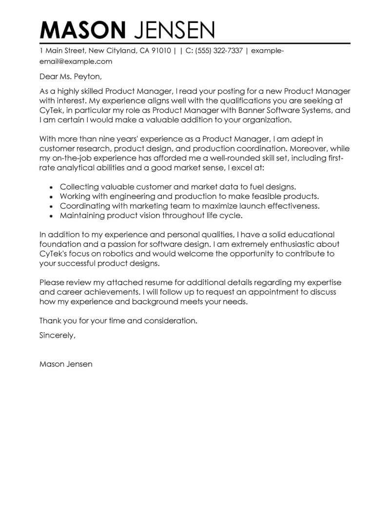 best production cover letter examples livecareer.html
