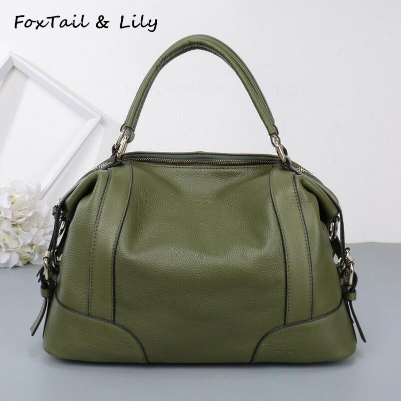 ad8284b5ad8d FoxTail   Lily Women Real Leather Bag Fashion Designer Handbags High  Quality Genuine Leather Ladies Shoulder