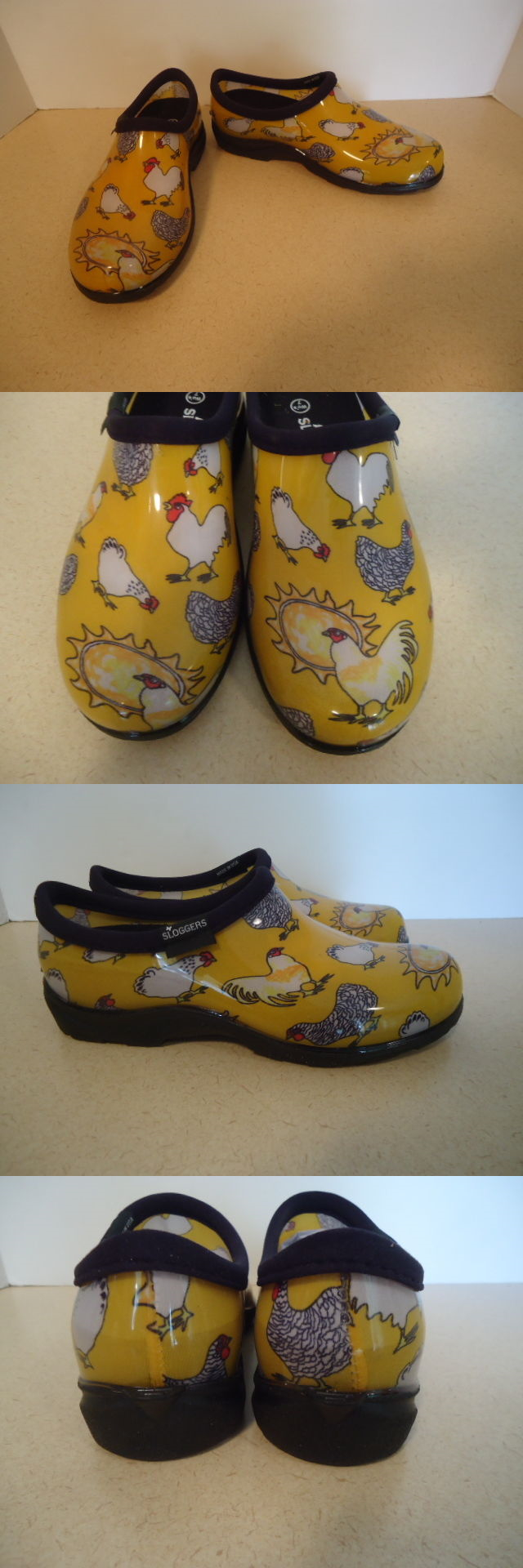 Gardening Boots and Shoes 139861: Sloggers Sz 7 Yellow Chicken Print ...