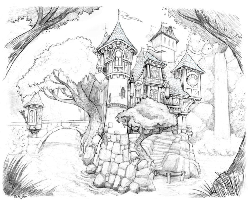 Icolor Quot The Magic Quot 992 215 800 Castle Drawing Castle