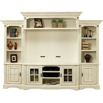highland manor white entertainment wall unit rc willey home frunishings - White Entertainment Center Wall Unit