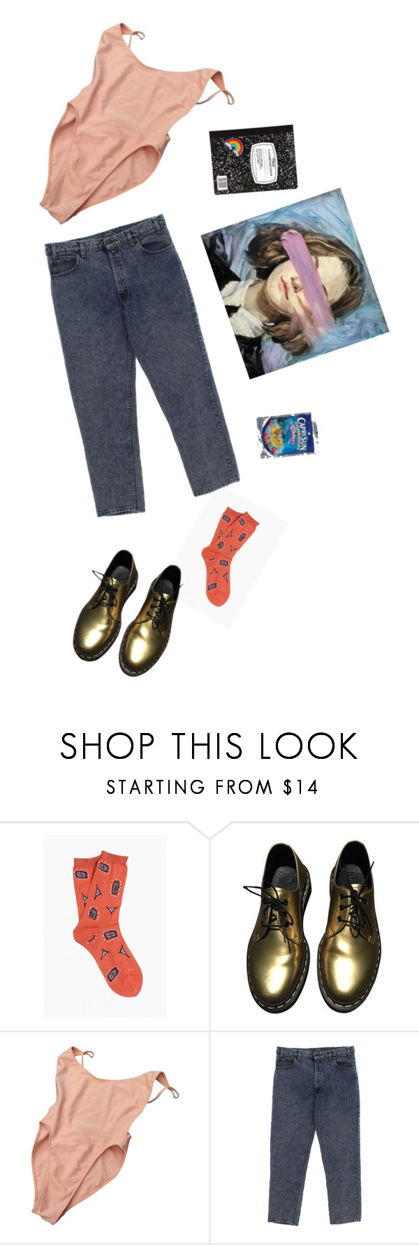 """Driving drunk"" by bananzah ❤ liked on Polyvore featuring Hansel from Basel, Dr. Martens, American Apparel, Love and Madness and FRUIT"