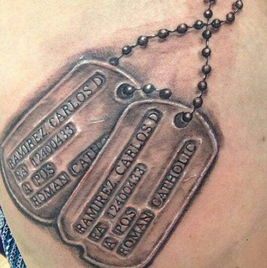 Pin By Amanda Simpson On Tats In 2020 Dog Tags Tattoo Tattoo