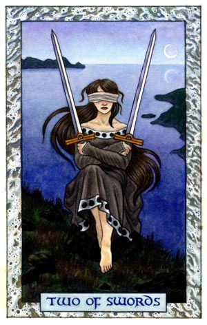 The Two of Swords, a Tarot Card by Thalia Took--Tarot Air element Card