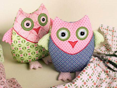 Mathilda-Dekoeulen zum Nachnähen #crochetdinosaurpatterns