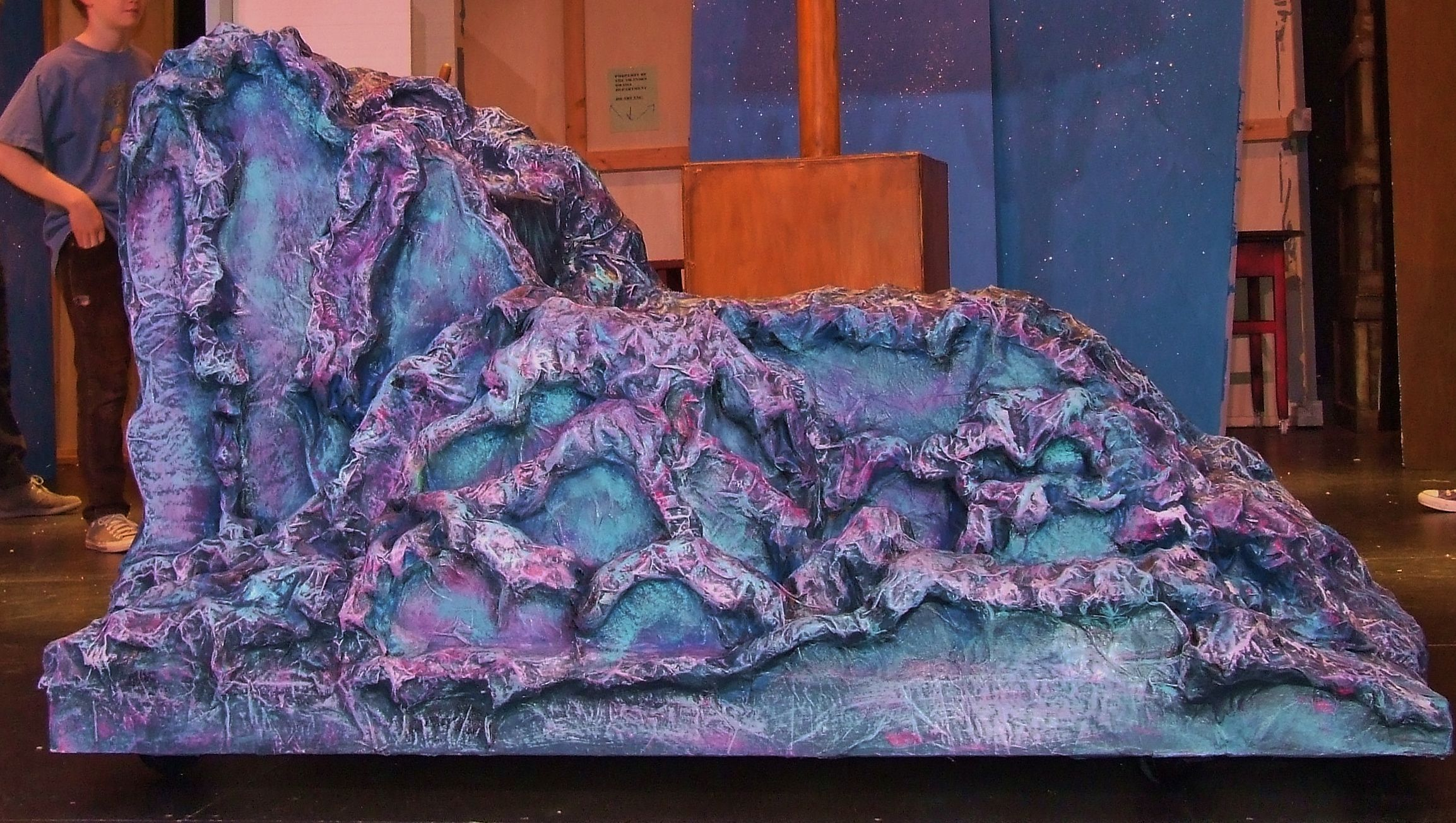 2 sided paper mache little mermaid rock ariel 39 s side www for Papier mache rocks