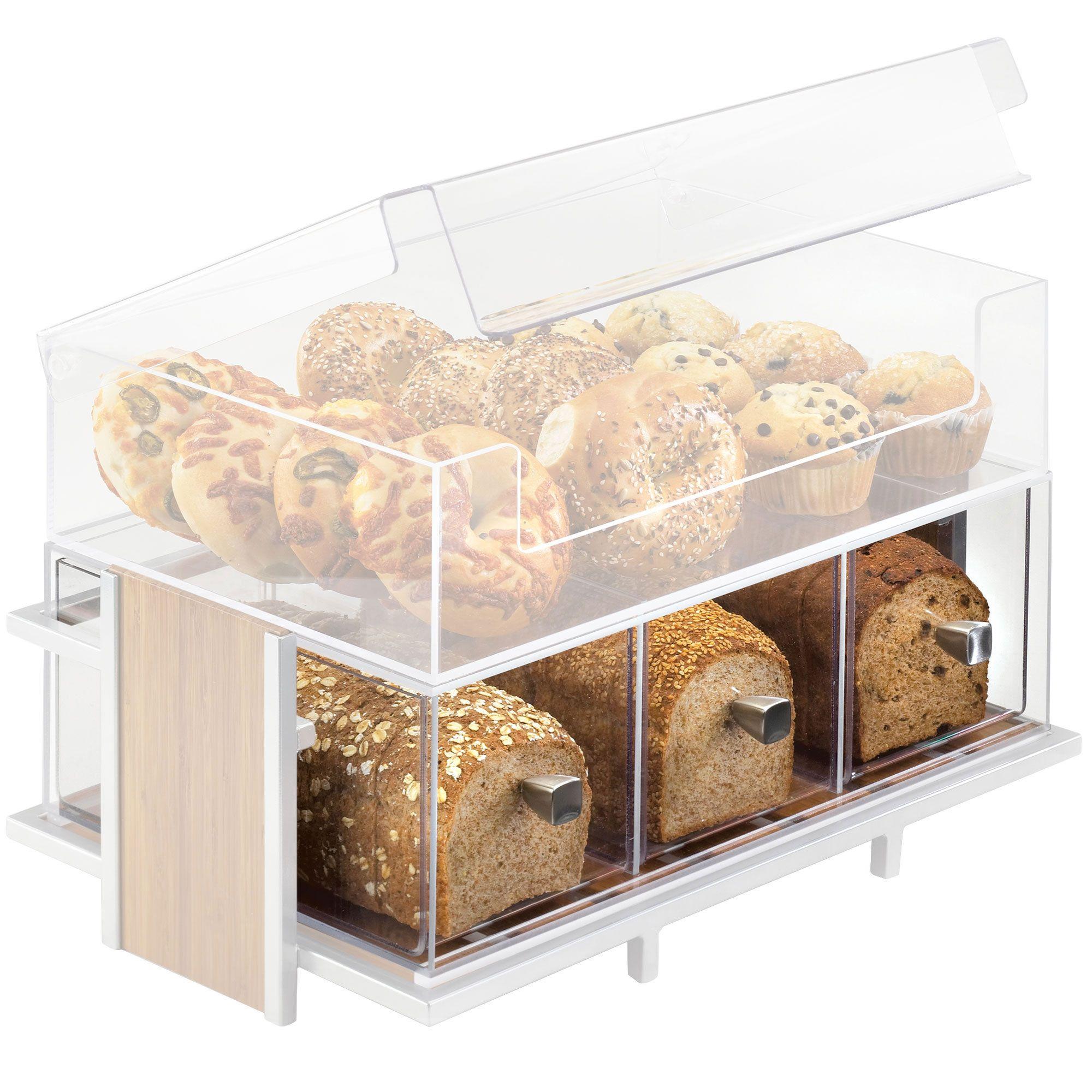 19w x 13d x 6h eco modern merchandiser 3 drawer bread box