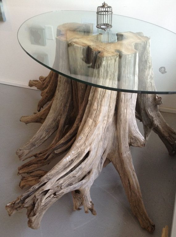 Magnificent One of a kind Driftwood and Glass Table Holz Ideen