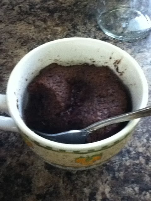 One minute flax muffin - this is really high in fiber and looks good!  I guess it will be my first flaxseed recipe to try.