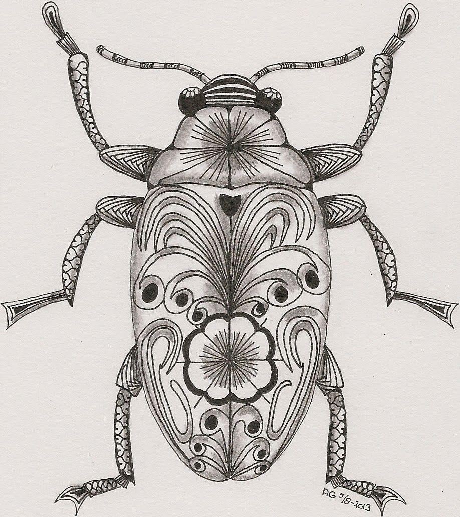 Adri Mu Augustus Art Tangle Club Kunst Met Insecten Kunst Ideeen Zentangle Kunst